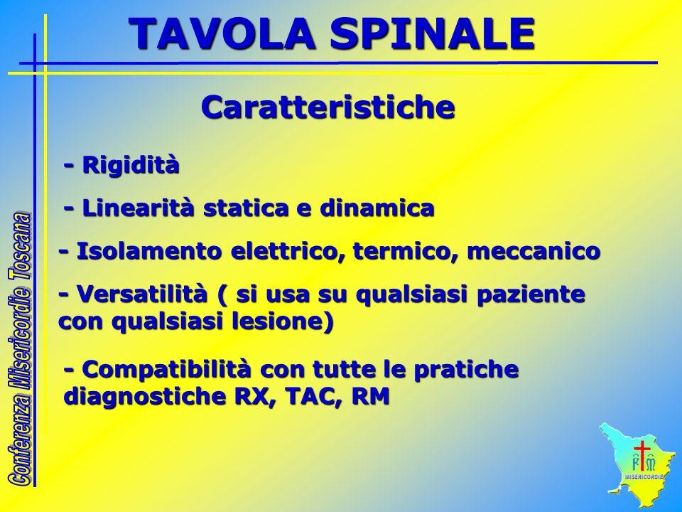 TAVOLA SPINALE Caratteristiche - Rigidità