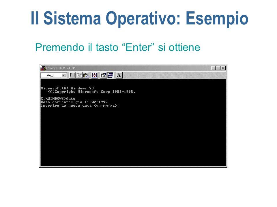 Il Sistema Operativo: Esempio