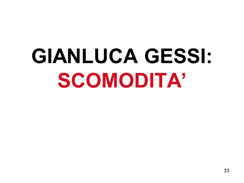 GIANLUCA GESSI: SCOMODITA'