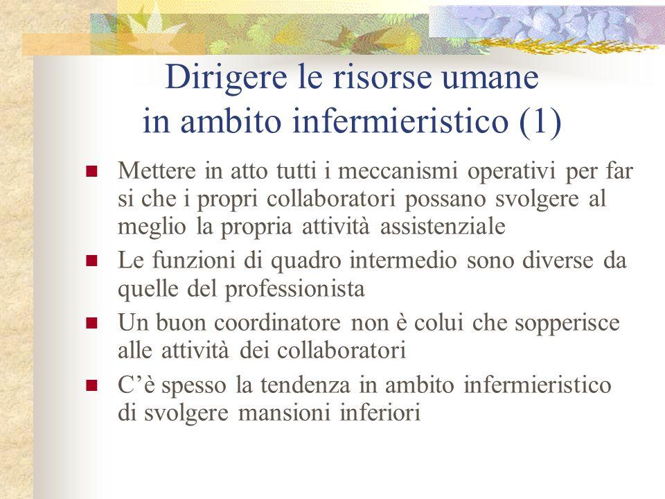 Dirigere le risorse umane in ambito infermieristico (1)