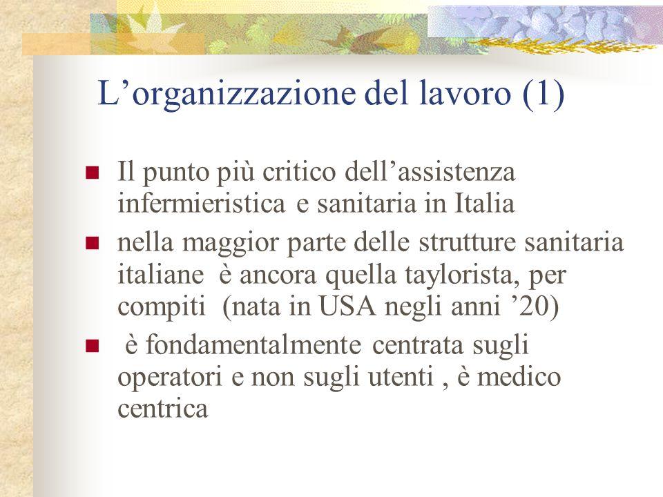 L'organizzazione del lavoro (1)