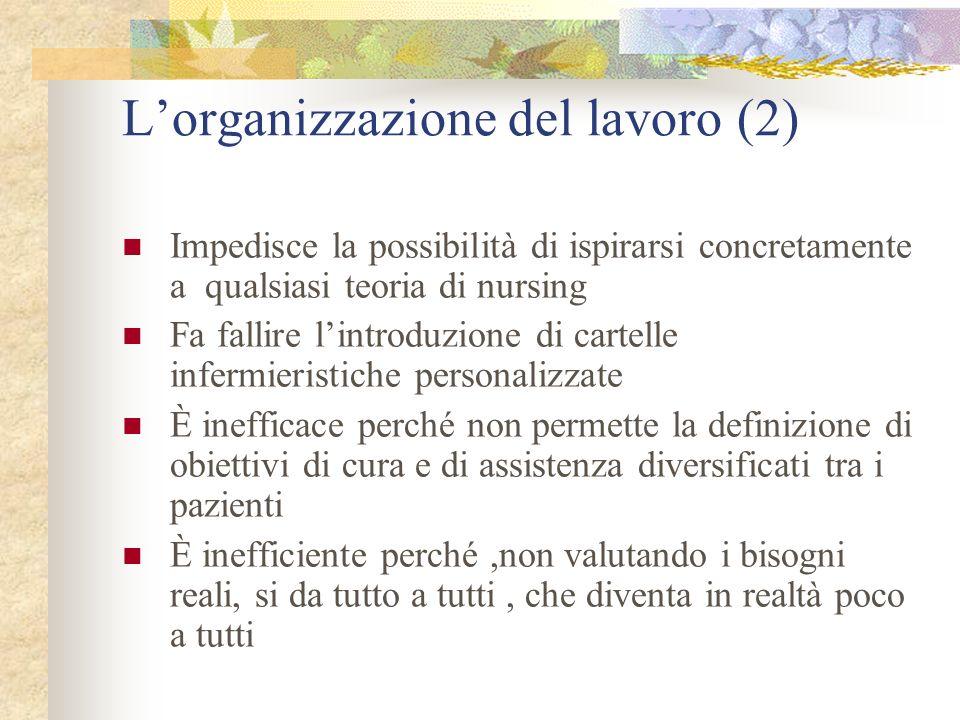 L'organizzazione del lavoro (2)