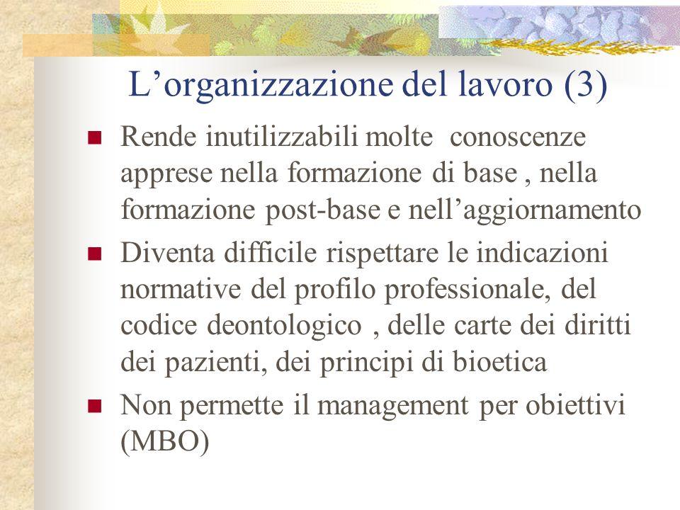 L'organizzazione del lavoro (3)
