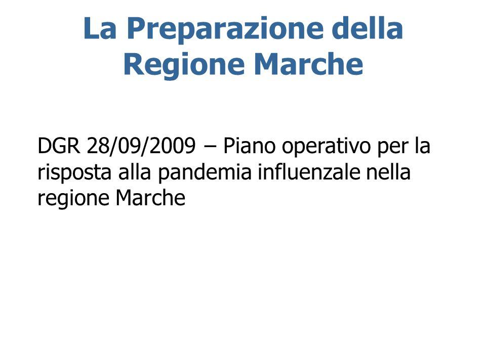 La Preparazione della Regione Marche