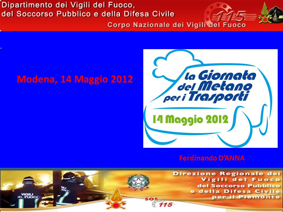 Modena, 14 Maggio 2012 Ferdinando D'ANNA