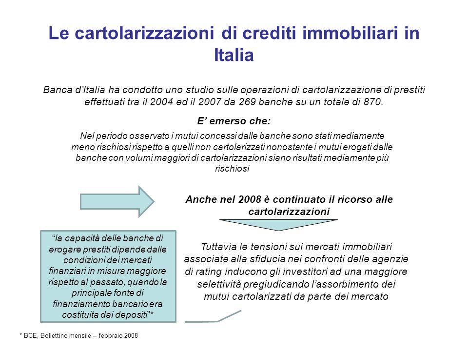 Le cartolarizzazioni di crediti immobiliari in Italia