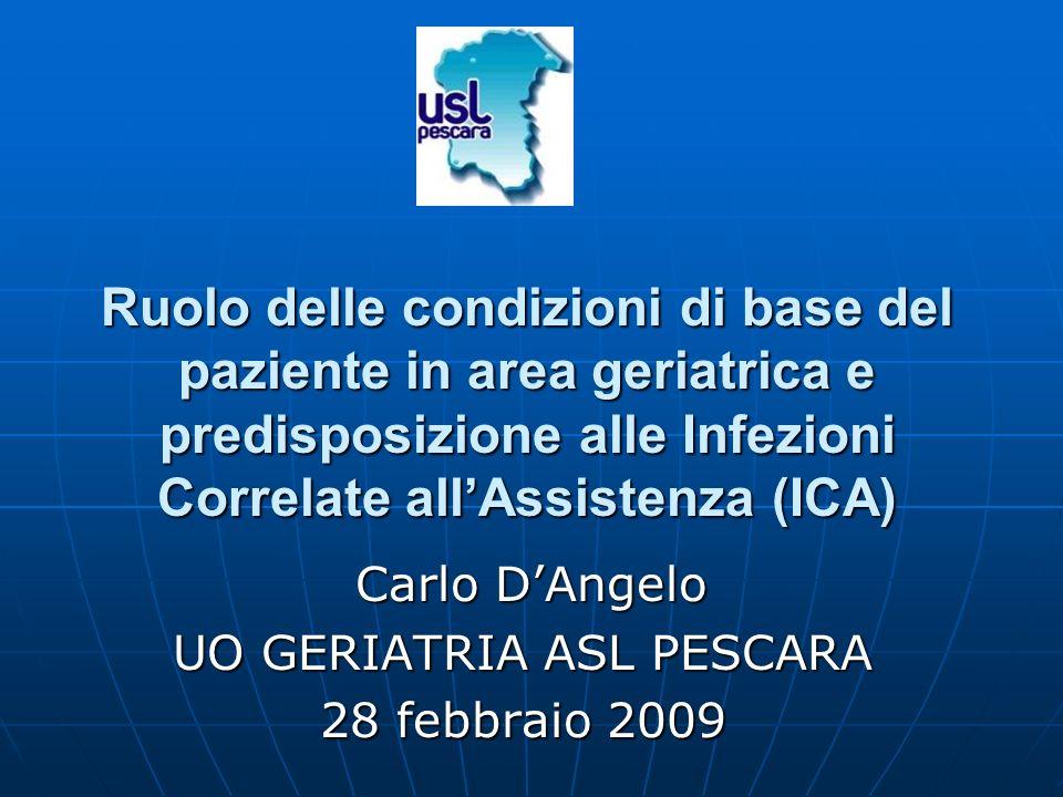 Carlo D'Angelo UO GERIATRIA ASL PESCARA 28 febbraio 2009