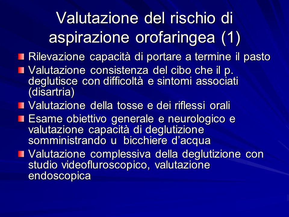 Valutazione del rischio di aspirazione orofaringea (1)