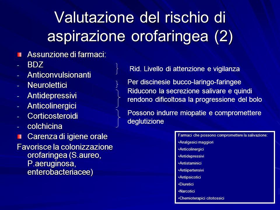 Valutazione del rischio di aspirazione orofaringea (2)
