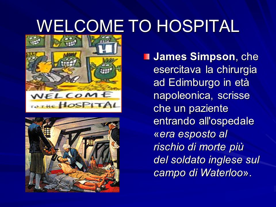 WELCOME TO HOSPITAL
