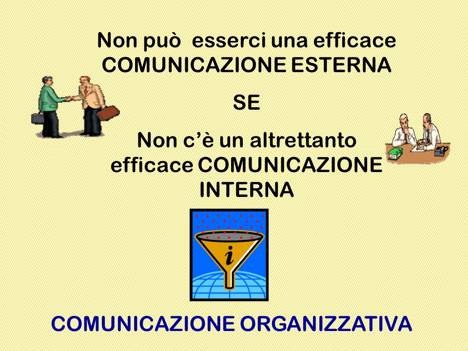 Non può esserci una efficace COMUNICAZIONE ESTERNA SE