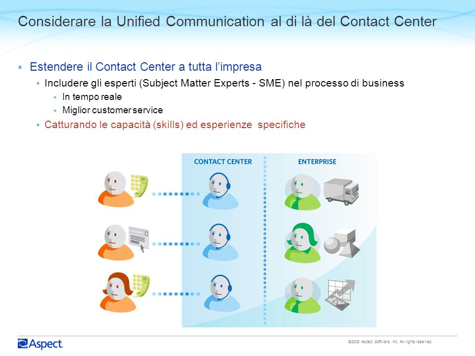 Considerare la Unified Communication al di là del Contact Center