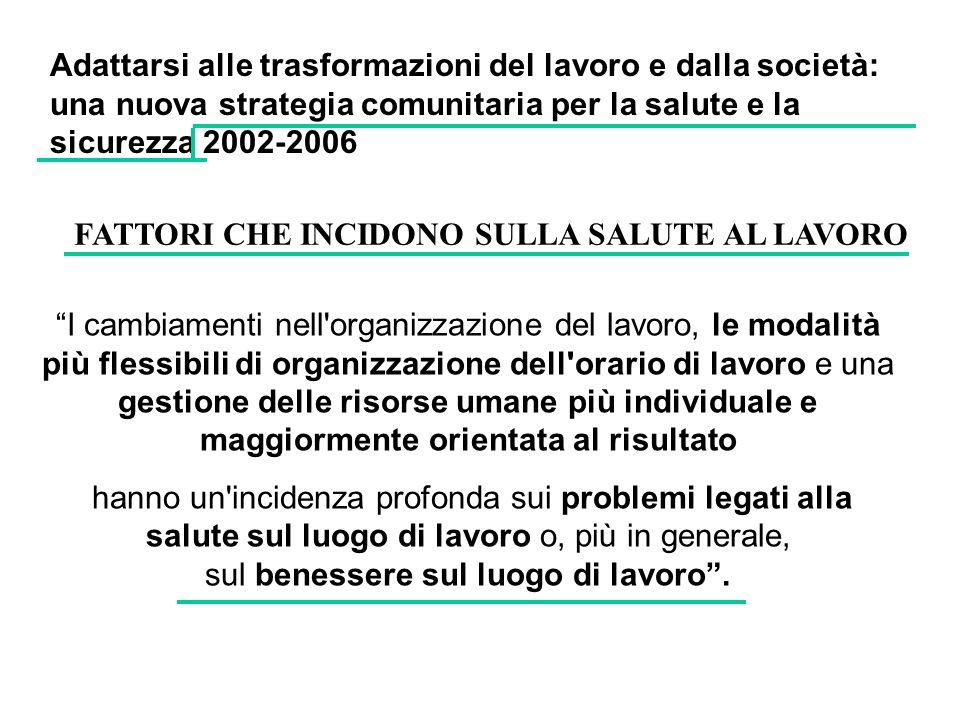 Adattarsi alle trasformazioni del lavoro e dalla società: una nuova strategia comunitaria per la salute e la sicurezza 2002-2006
