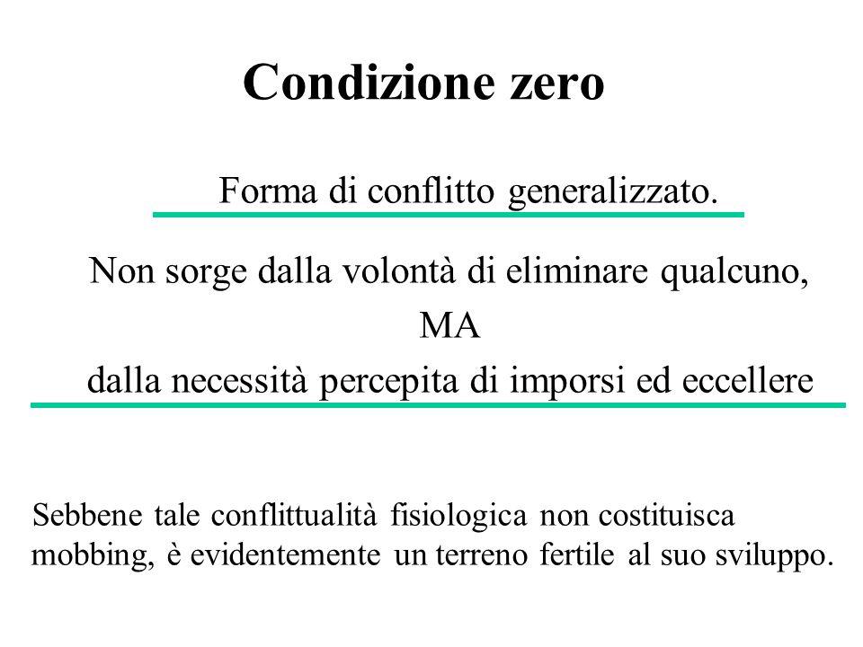 Condizione zero Forma di conflitto generalizzato.
