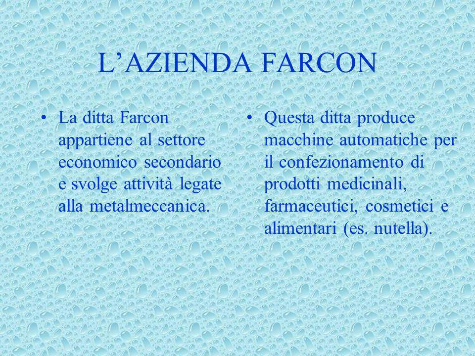 L'AZIENDA FARCON La ditta Farcon appartiene al settore economico secondario e svolge attività legate alla metalmeccanica.