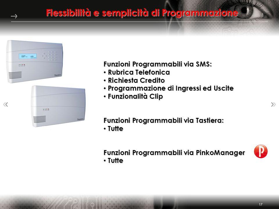 Flessibilità e semplicità di Programmazione