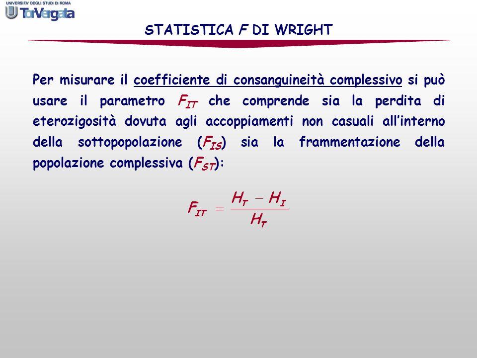 STATISTICA F DI WRIGHT
