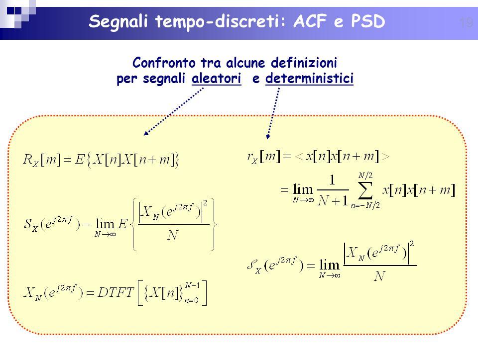 Segnali tempo-discreti: ACF e PSD
