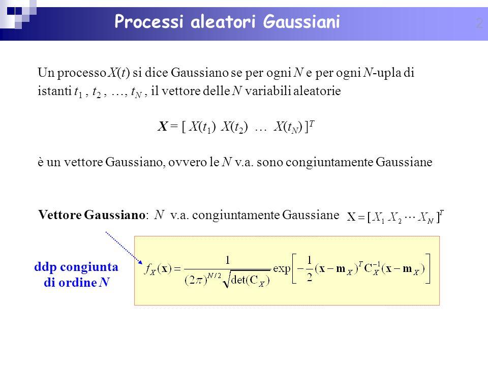 Processi aleatori Gaussiani