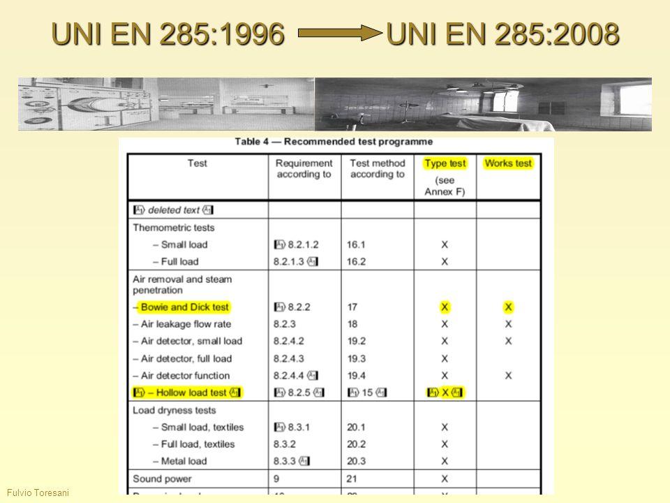 UNI EN 285:1996 UNI EN 285:2008 Fulvio Toresani