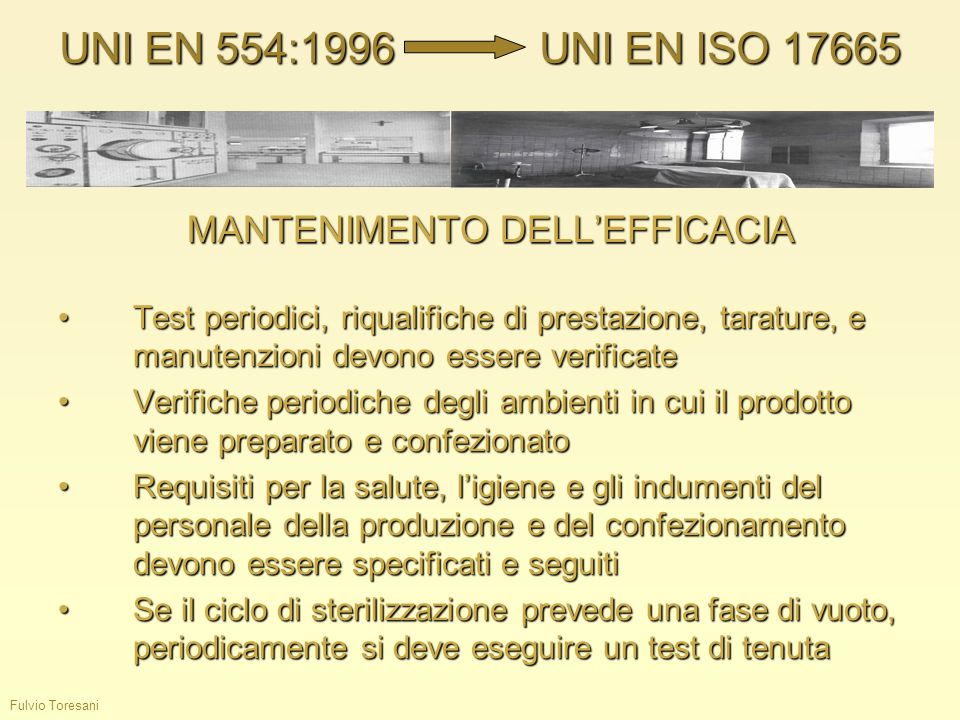 MANTENIMENTO DELL'EFFICACIA
