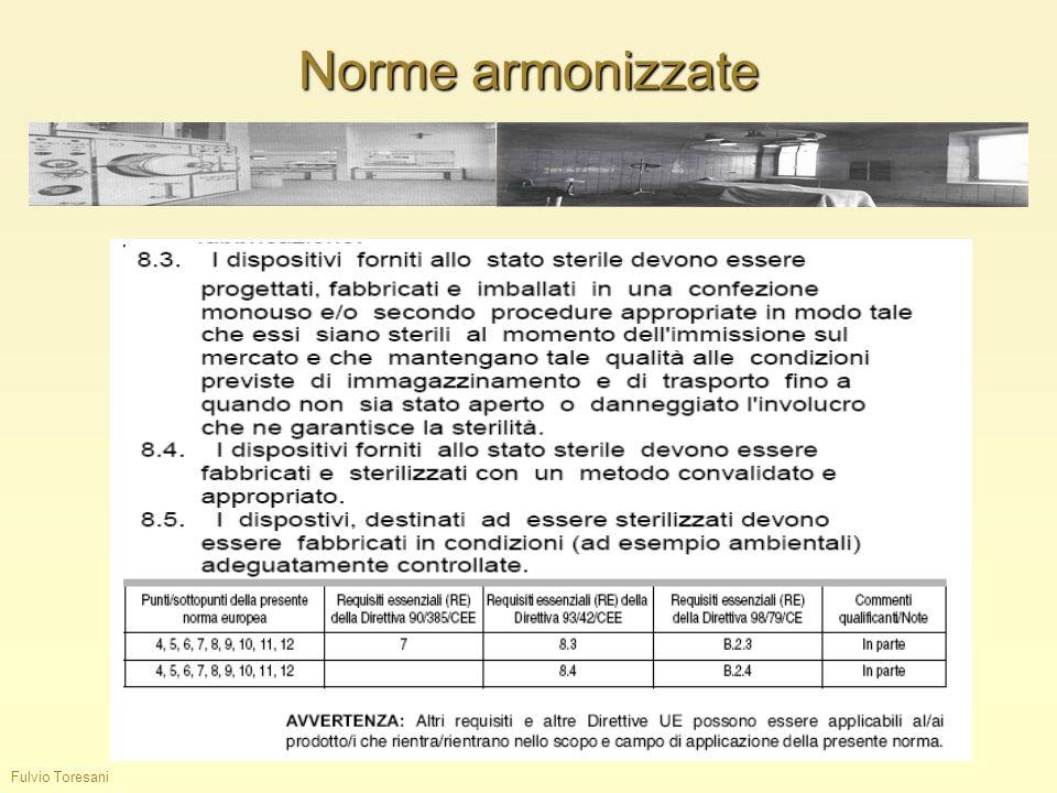 Norme armonizzate Fulvio Toresani