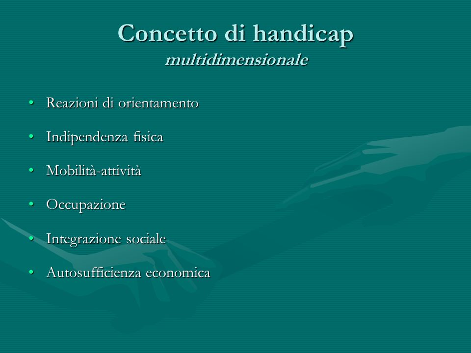 Concetto di handicap multidimensionale
