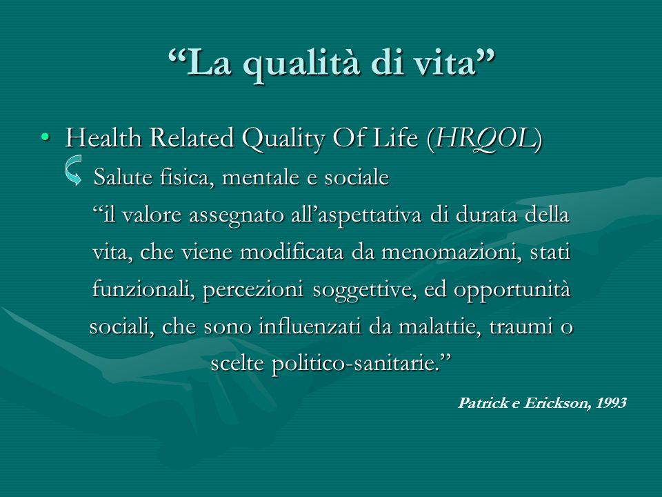 La qualità di vita Health Related Quality Of Life (HRQOL)