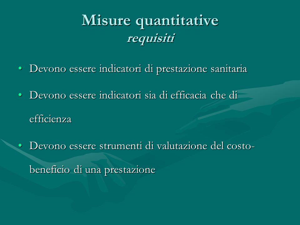 Misure quantitative requisiti