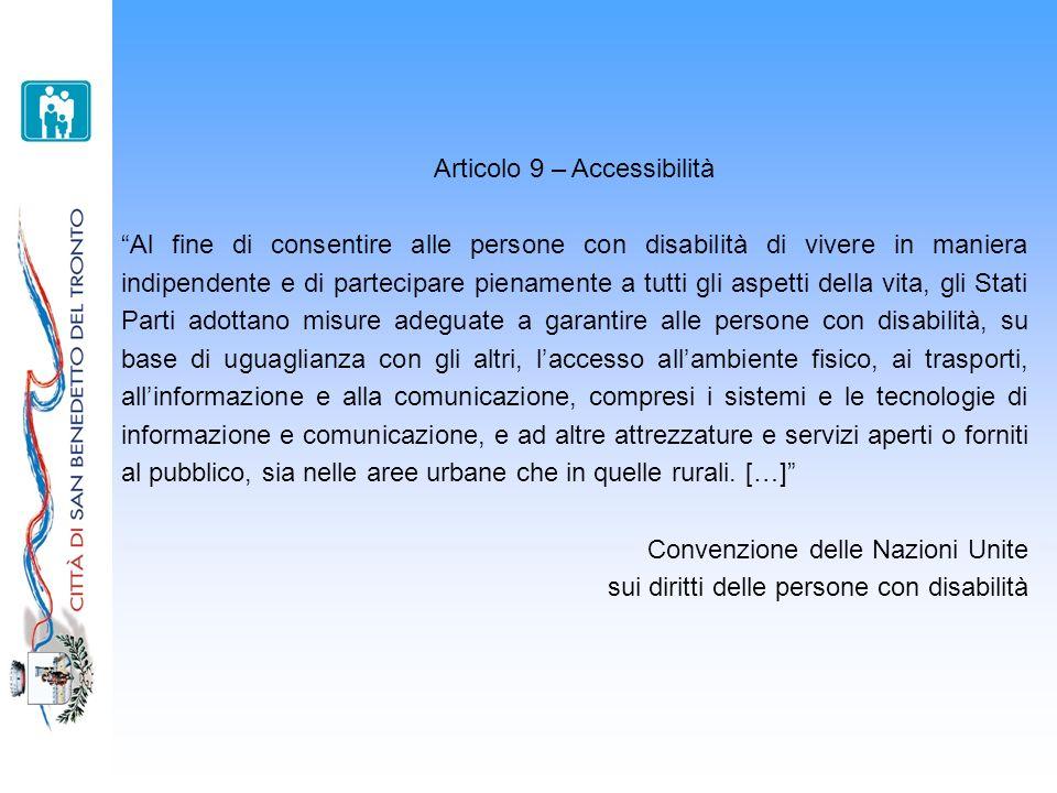 Articolo 9 – Accessibilità