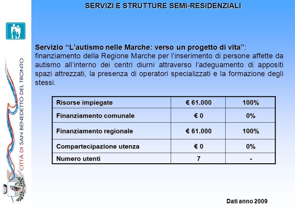 SERVIZI E STRUTTURE SEMI-RESIDENZIALI