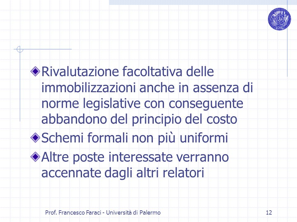 Prof. Francesco Faraci - Università di Palermo