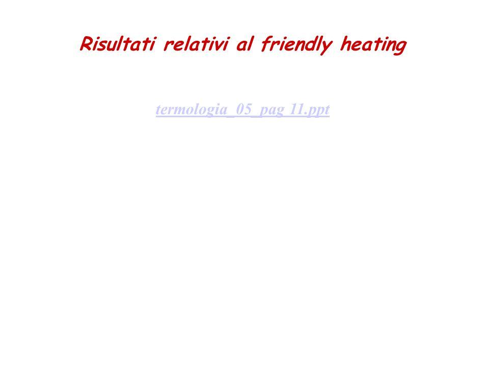 Risultati relativi al friendly heating