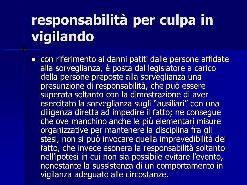responsabilità per culpa in vigilando