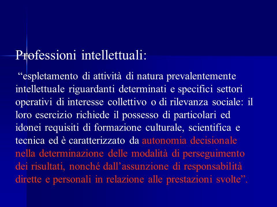 Professioni intellettuali: