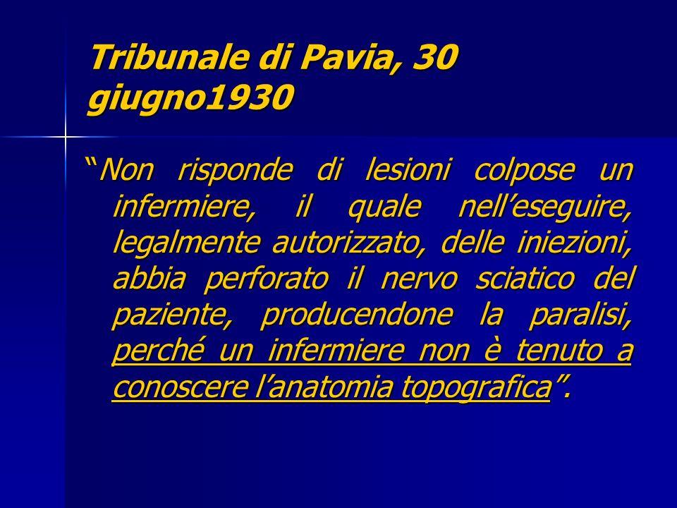 Tribunale di Pavia, 30 giugno1930