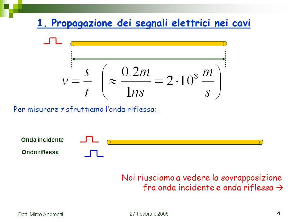 1. Propagazione dei segnali elettrici nei cavi