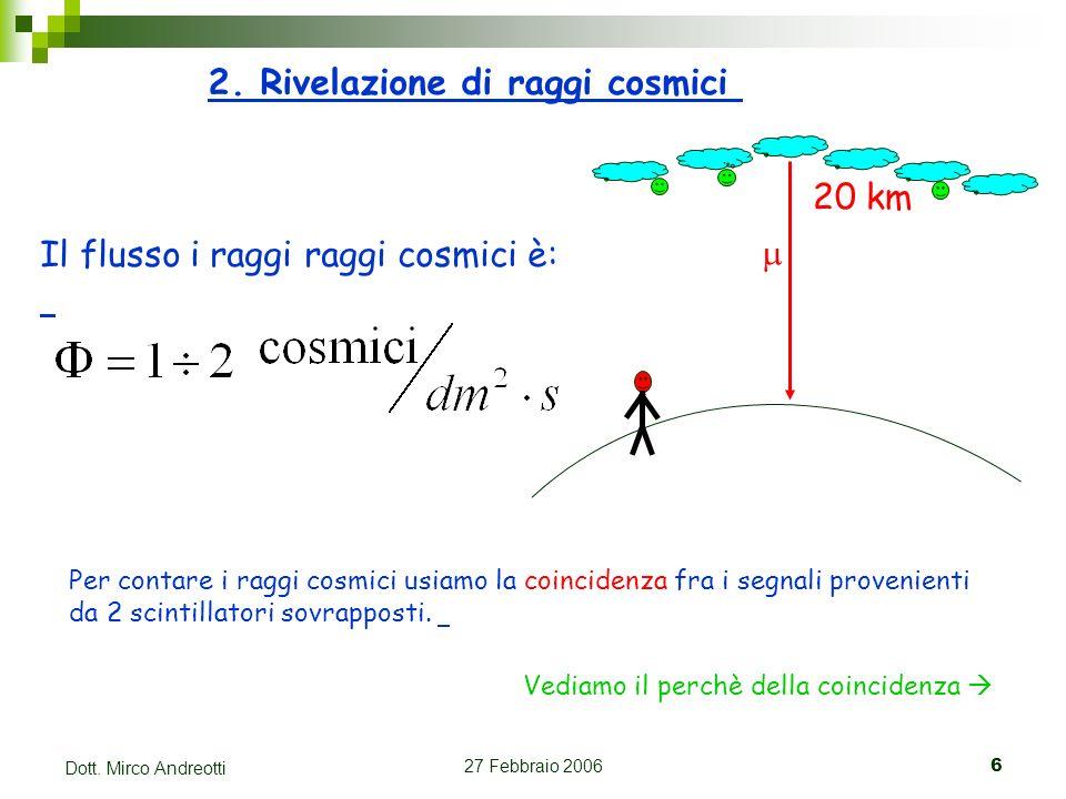 2. Rivelazione di raggi cosmici