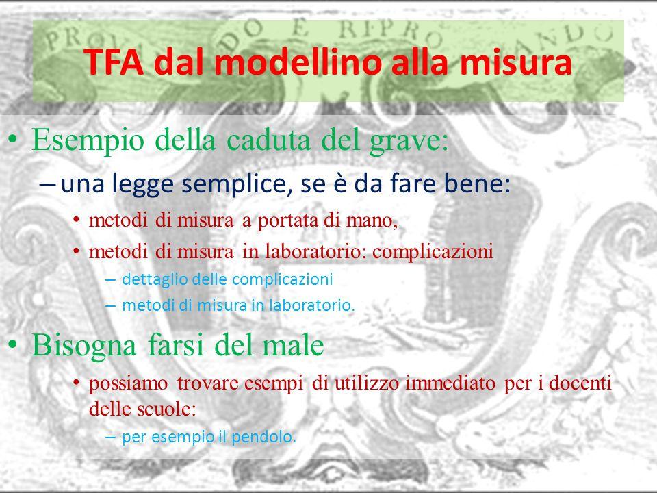 TFA dal modellino alla misura