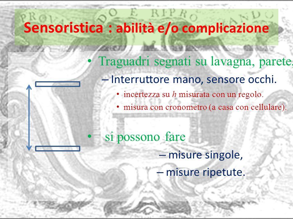 Sensoristica : abilità e/o complicazione