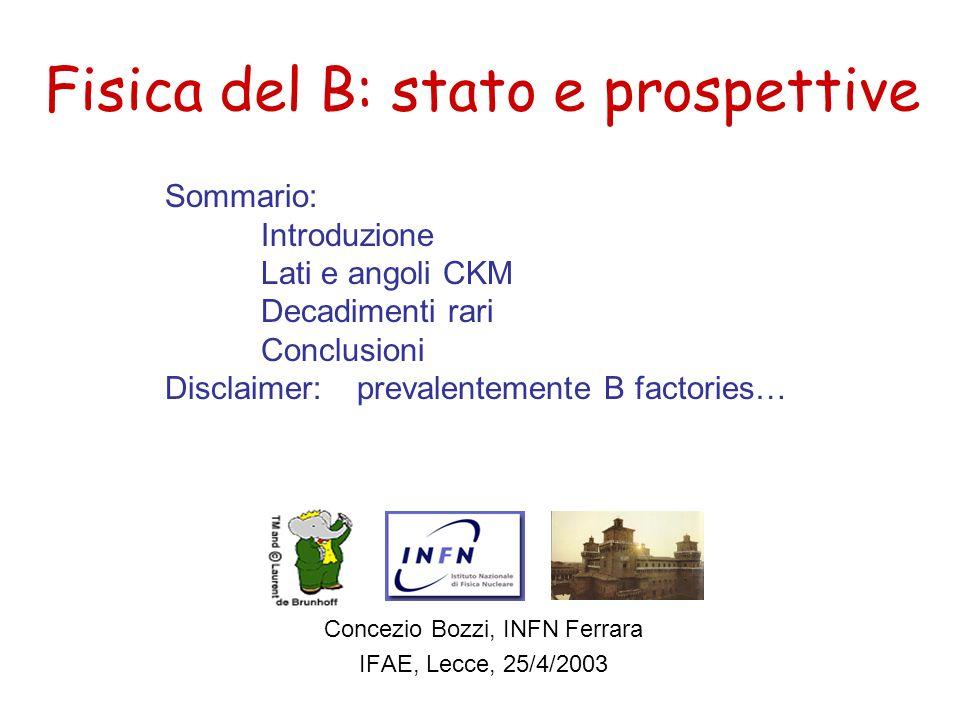 Fisica del B: stato e prospettive