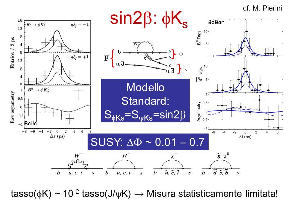 Modello Standard: SfKs=SyKs=sin2b