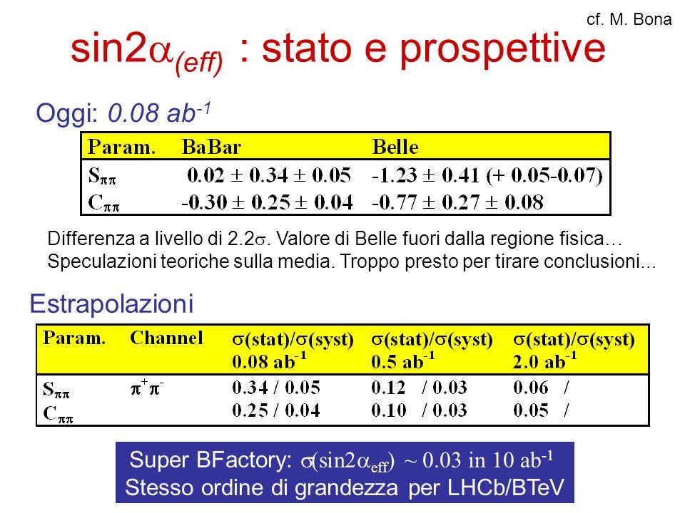 sin2(eff) : stato e prospettive