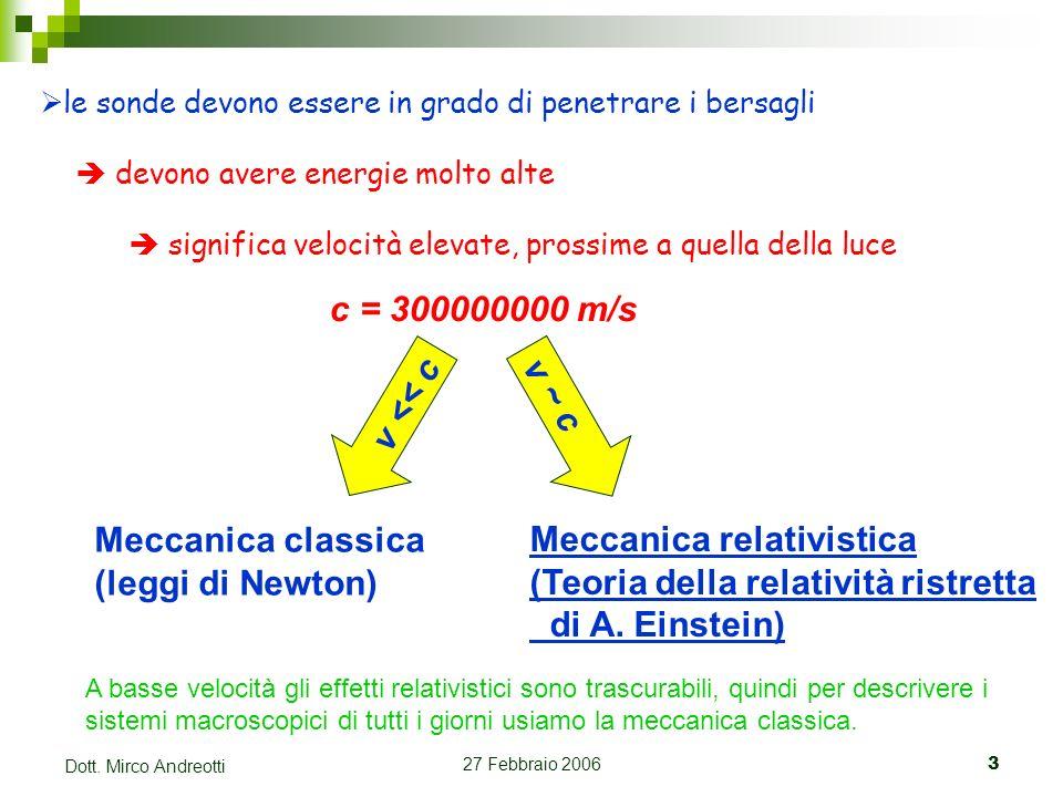 Meccanica relativistica (Teoria della relatività ristretta