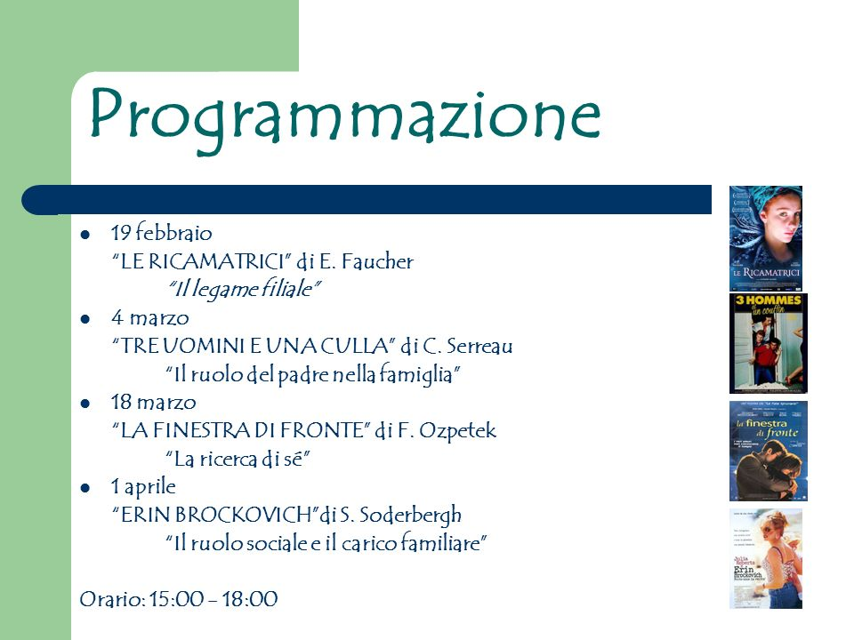 Programmazione 19 febbraio LE RICAMATRICI di E. Faucher