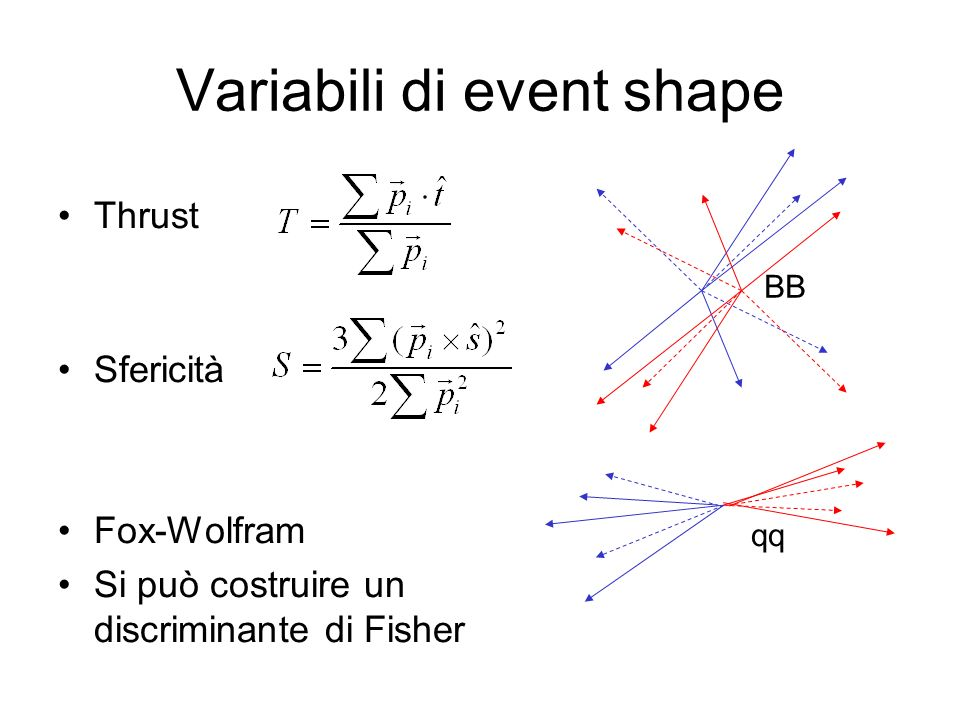 Variabili di event shape