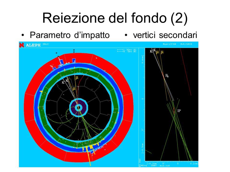 Reiezione del fondo (2) Parametro d'impatto vertici secondari