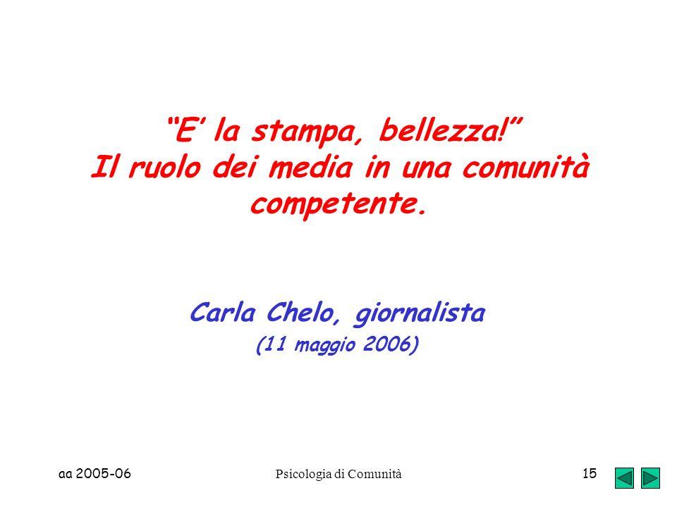 Carla Chelo, giornalista (11 maggio 2006)