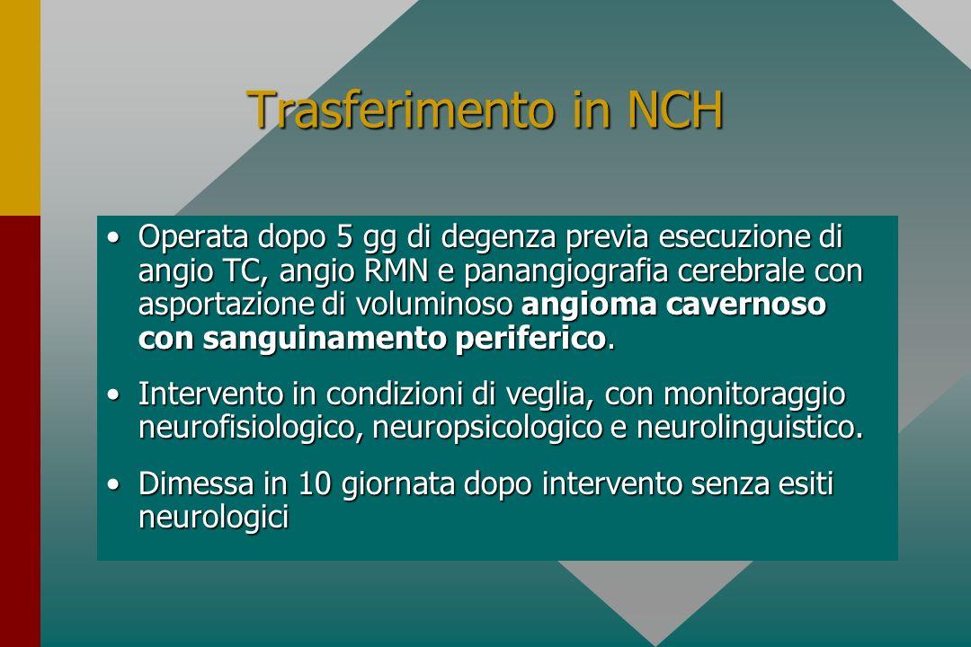 Trasferimento in NCH