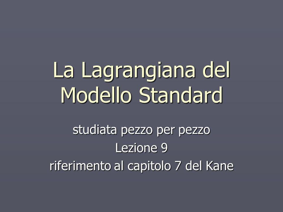 La Lagrangiana del Modello Standard